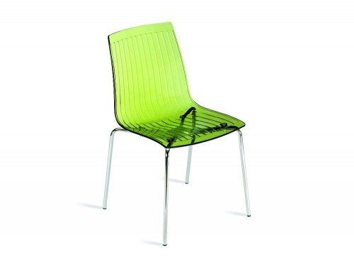 G85TG City Stackable Translucent Chair in Green