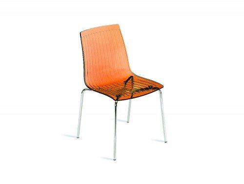 G85CL City Stackable Translucent Chair in Clear