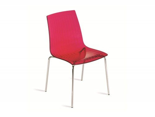 G85TR City Stackable Translucent Chair in Red