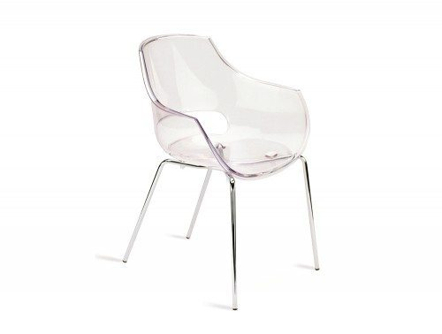 G90CL Globe Stackable Translucent Armchair in Clear