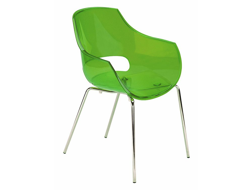 Globe Stackable Translucent Armchair - Green