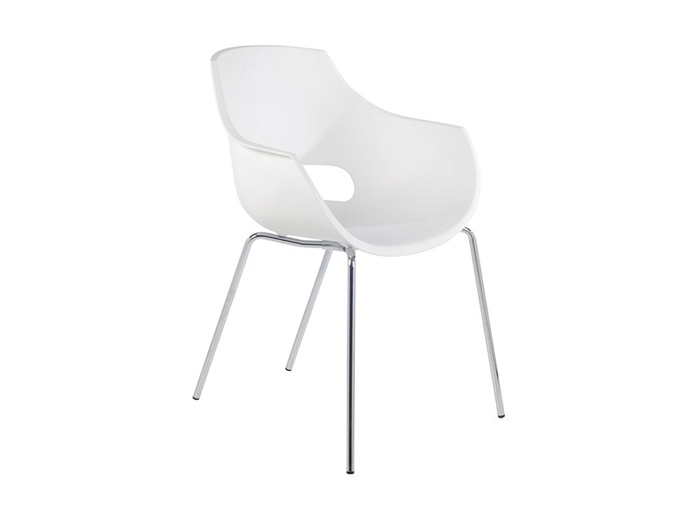 Globe Stackable Translucent Armchair - White