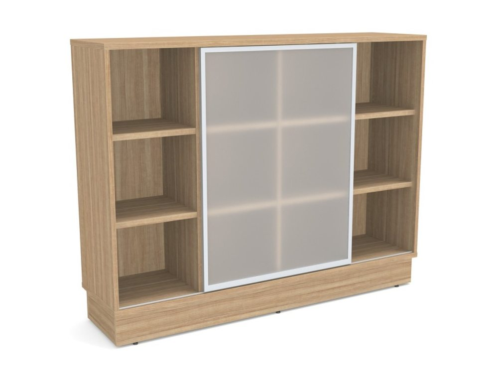 Grand Executive Storage Unit With Frosted Glass Sliding Doors