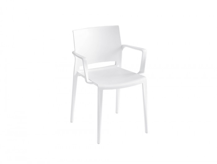 Gaber Bakhita Stackable Canteen Chair with Armrests in White.jpg