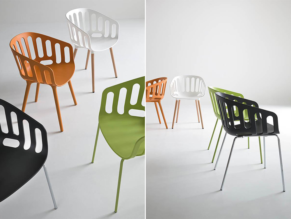 Gaber-Basket-Stackable-Canteen-Chair-in-Black-Orange-White-and-Green-Finishes