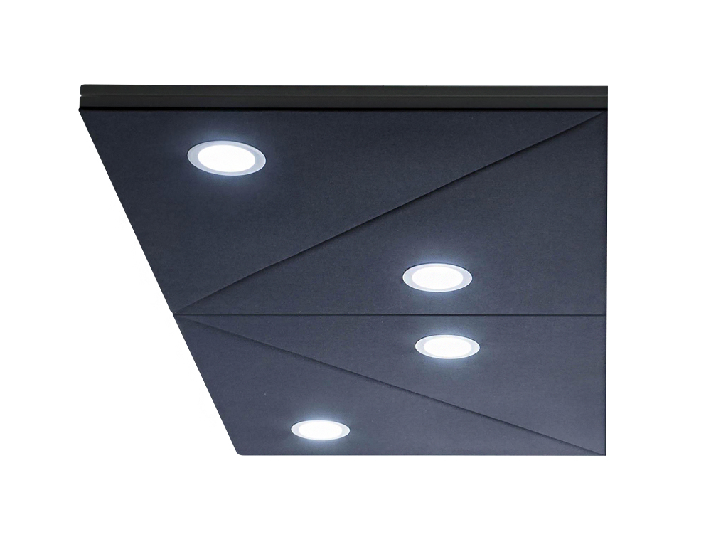 Gaber Diamante Acoustic Hanging Panel with Double Spotlights