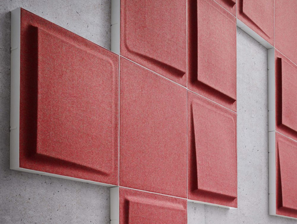 Gaber Fono Acoustic Wall Panels in red