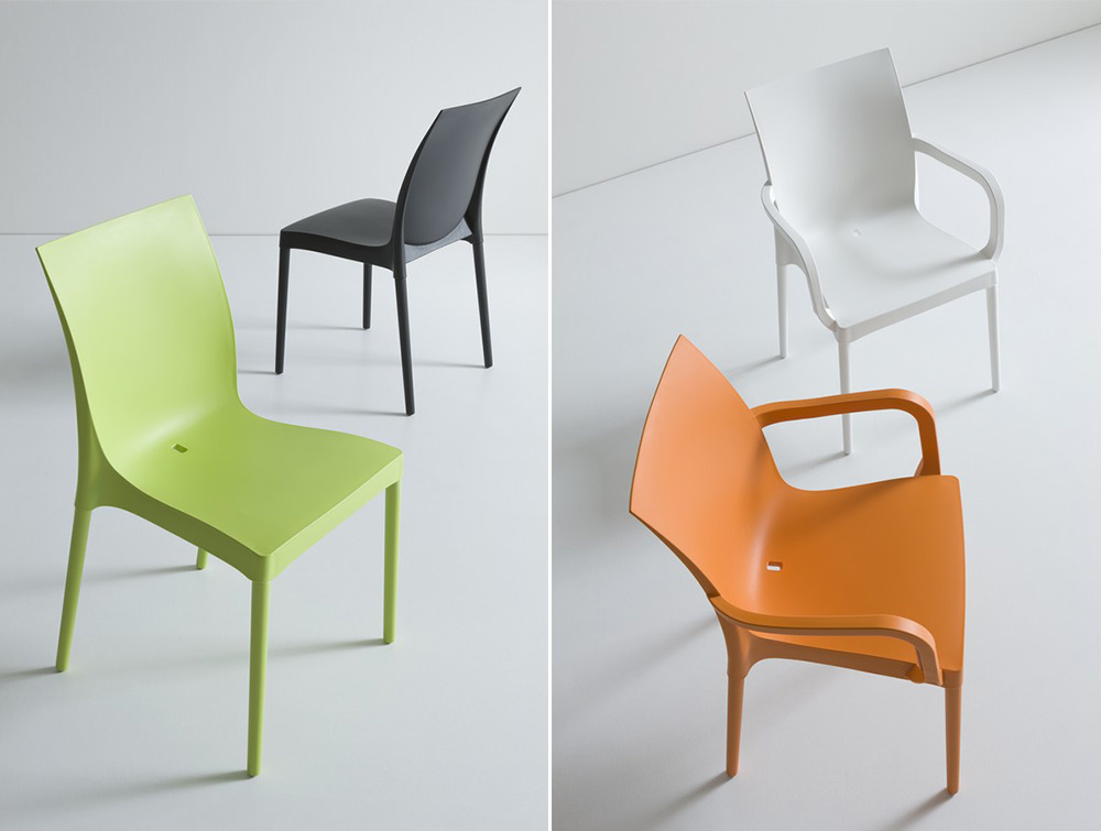 Gaber-Iris-Stacking-Canteen-Chair-in-Black-Green-White-and-Orange-Finishes