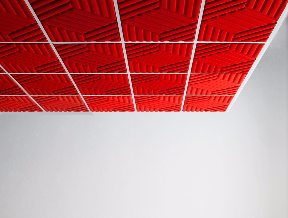 Gaber Madison Acoustic Cherry Red Ceiling Panels