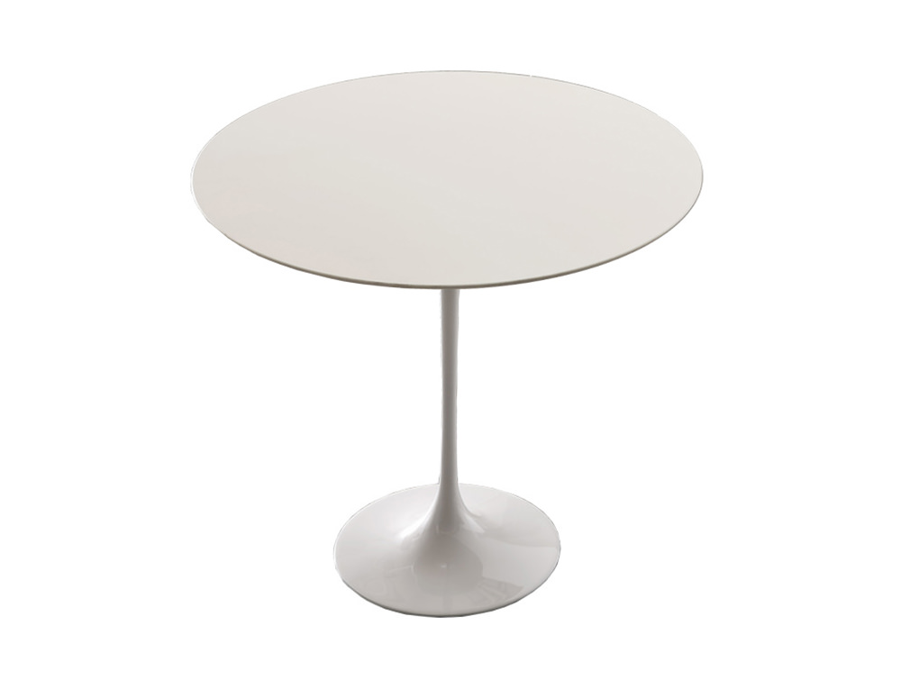 Gaber Saturnino Round Coffee Table with Trumpet Base