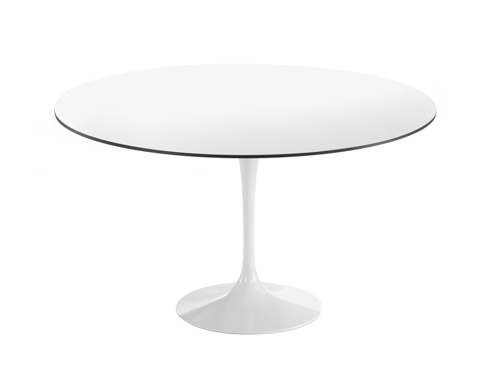 Gaber Saturno Round Dining Table with Trumpet Base