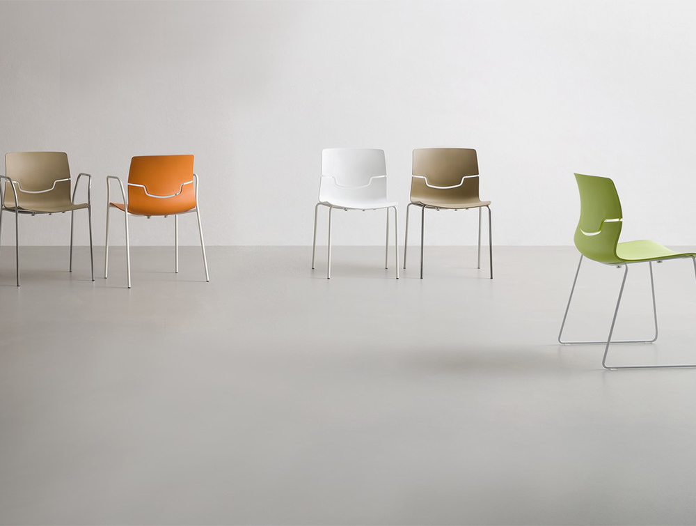 Gaber-Slot-Stacking-Canteen-Chair-Available-in-White-Beige-Green-and-Orange-Shell-Finishes