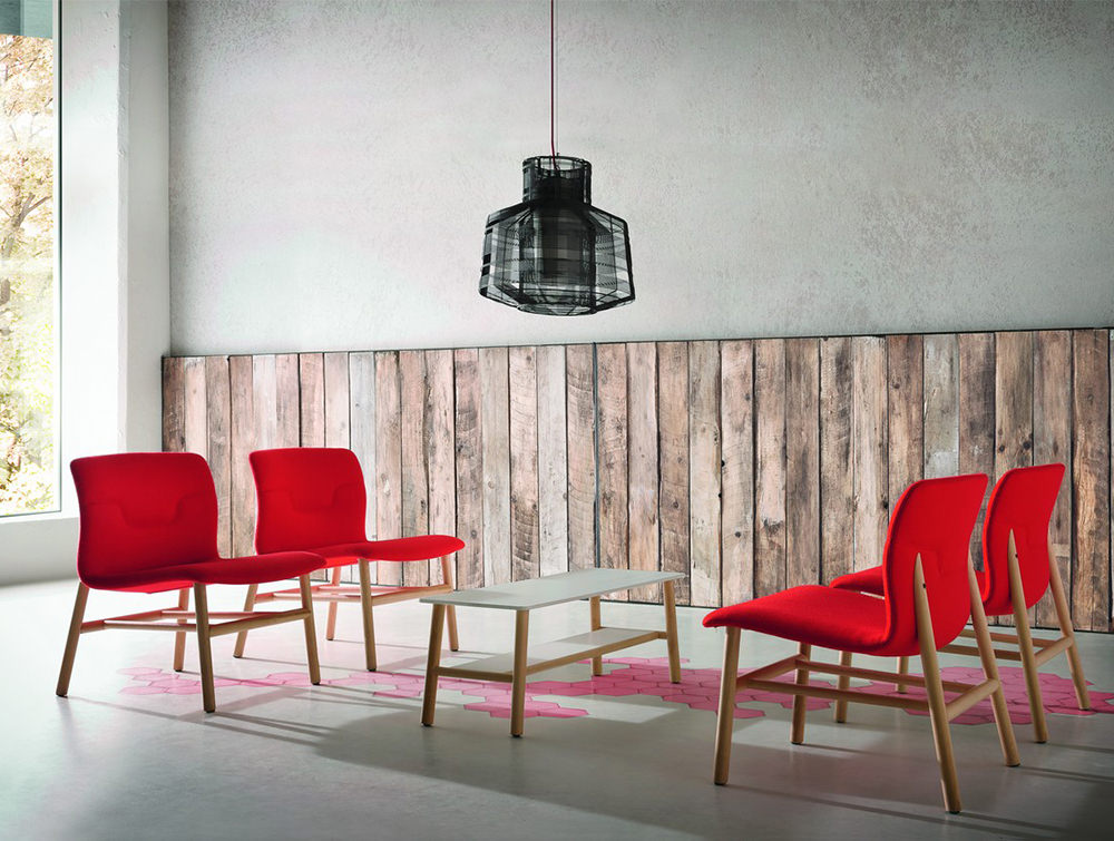 Gaber-Slot-Stacking-Canteen-Chair-without-Armrests-in-Red-with-Wooden-Legs-in-Meeting-Room
