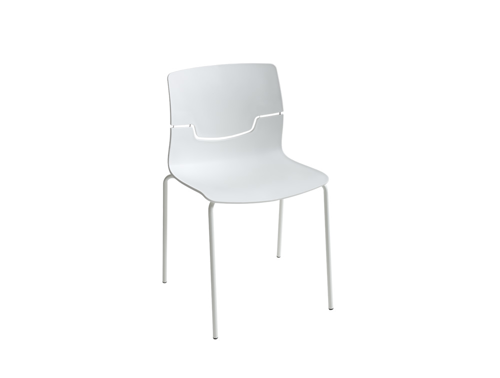 Gaber-Slot-Stacking-Canteen-Chair-without-Armrests-in-White-with-Metal-Legs
