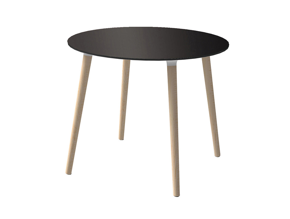 Gaber-Stefano-Table-with-Black-Tabletop-and-Natural-Wood-Finish-Legs