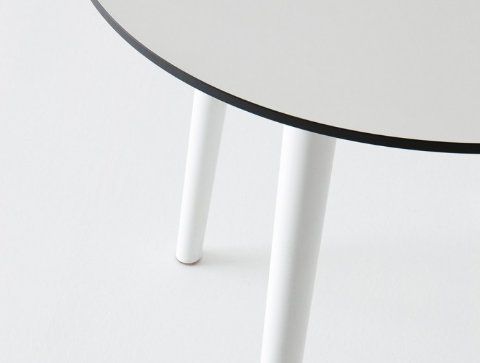 Gaber-Stefano-Table-with-Grey-Tabletop-and-White-Legs-Close-View