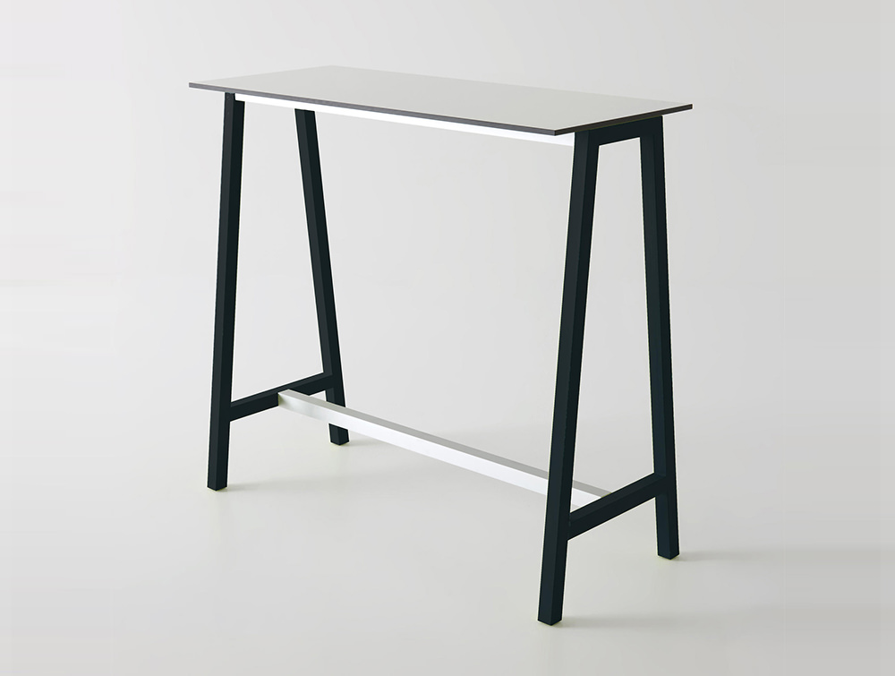 Gaber-Step-Canteen-Table-with-White-Tabletop-and-Black-Frame