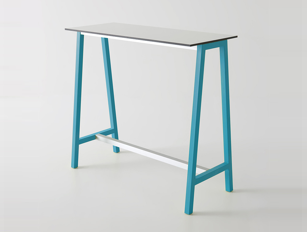 Gaber-Step-Canteen-Table-with-White-Tabletop-and-Blue-Frame