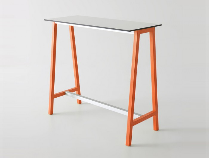 Gaber-Step-Canteen-Table-with-White-Tabletop-and-Orange-Frame