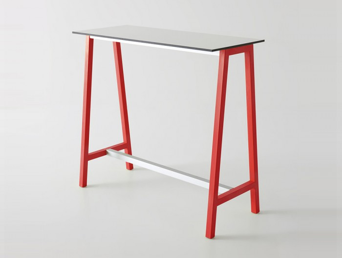 Gaber-Step-Canteen-Table-with-White-Tabletop-and-Red-Frame