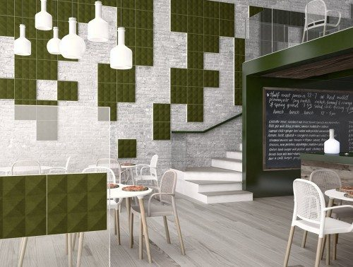 Gaber Stilly Acoustic Wall Panels in green