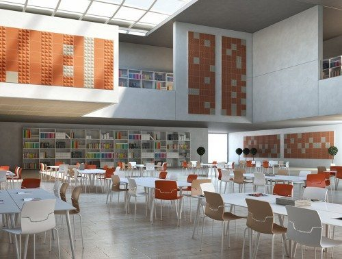 Gaber Stilly Acoustic Wall Panels in orange