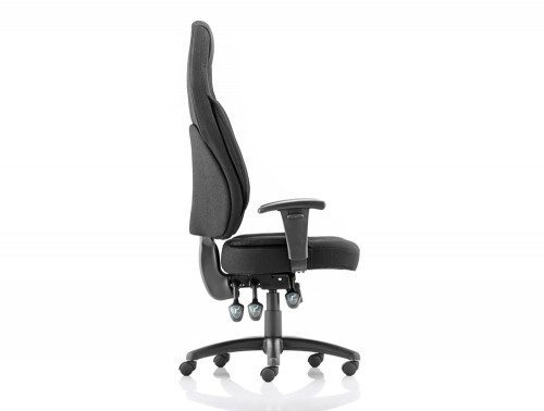 Galaxy Task Operator Chair Black Fabric High Back With Arms Image 4