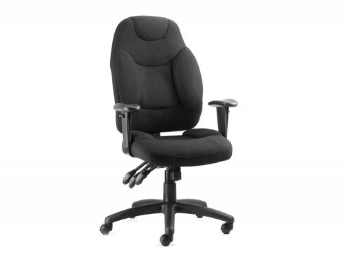 Galaxy Task Operator Chair Black Fabric With Arms Featured Image
