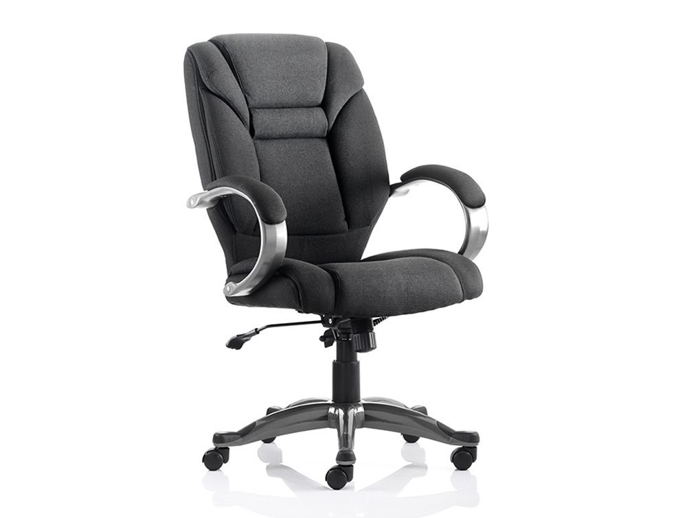 Galloway Executive Chair Black Fabric With Arms Featured Image