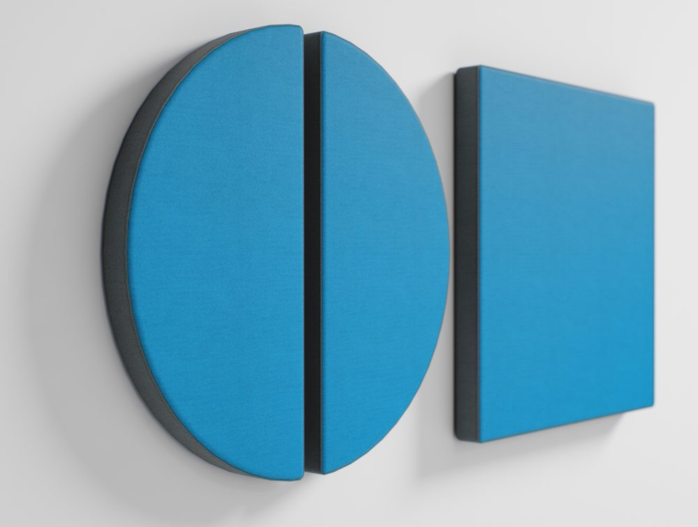 Geometric Blue Shaped Wall Acoustic Panels for Noise Cancelling