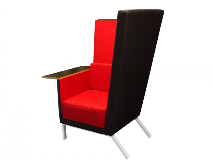 Georgio-Single-High-Back-1-Seater-Sofa-with-Table-Red-and-Black
