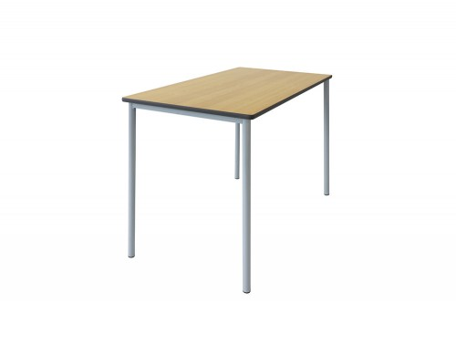 Grade Secondary School Classroom Rectangle Table in Beech