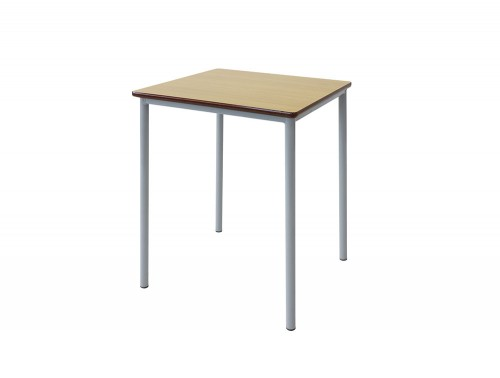 Grade Secondary School Classroom Square Table in Beech
