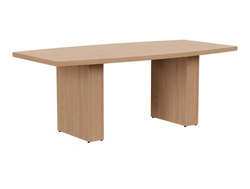 Grand Executive Barrel Boardroom Table in Beech