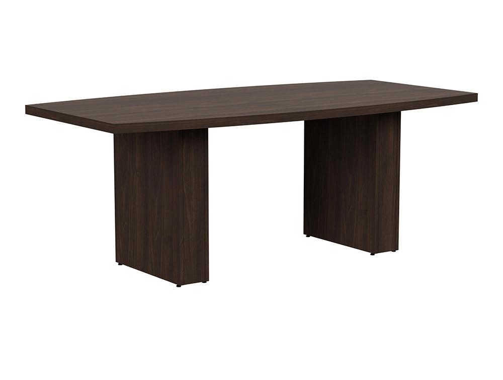 Grand Executive Barrel Boardroom Table - Dark Walnut