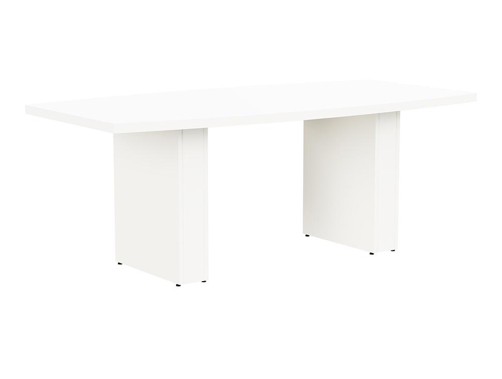 Grand Executive Barrel Boardroom Table - White