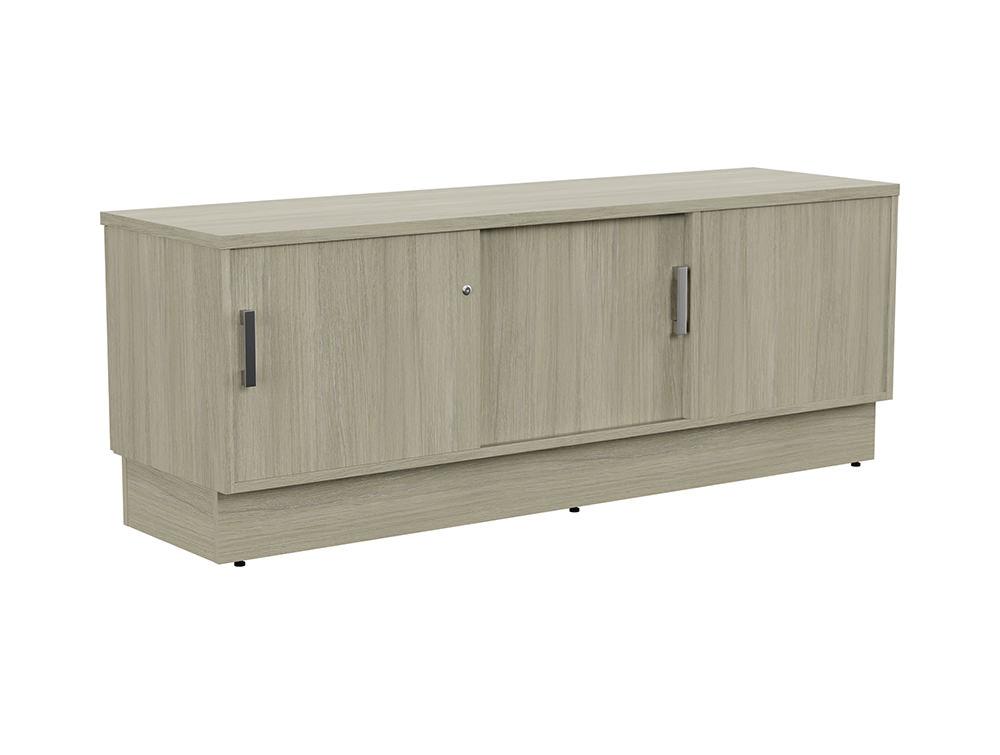 Grand Executive Credenza Storage Unit - Arctic Oak - Left