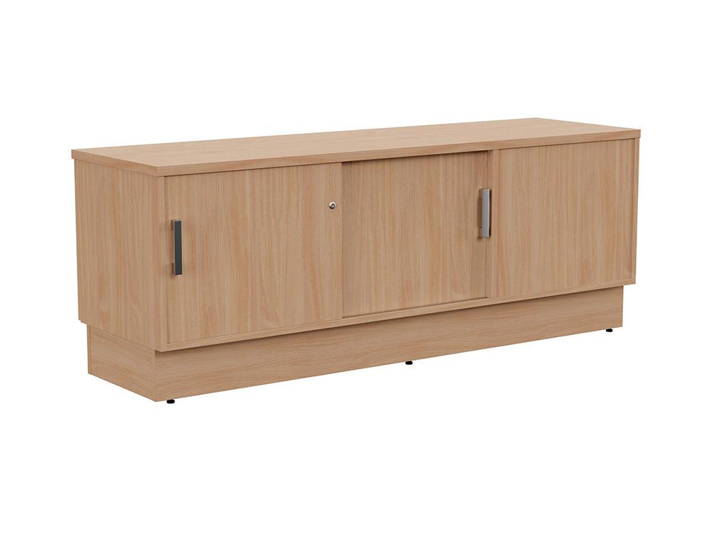 Grand Executive Credenza Storage Unit - Beech - Left