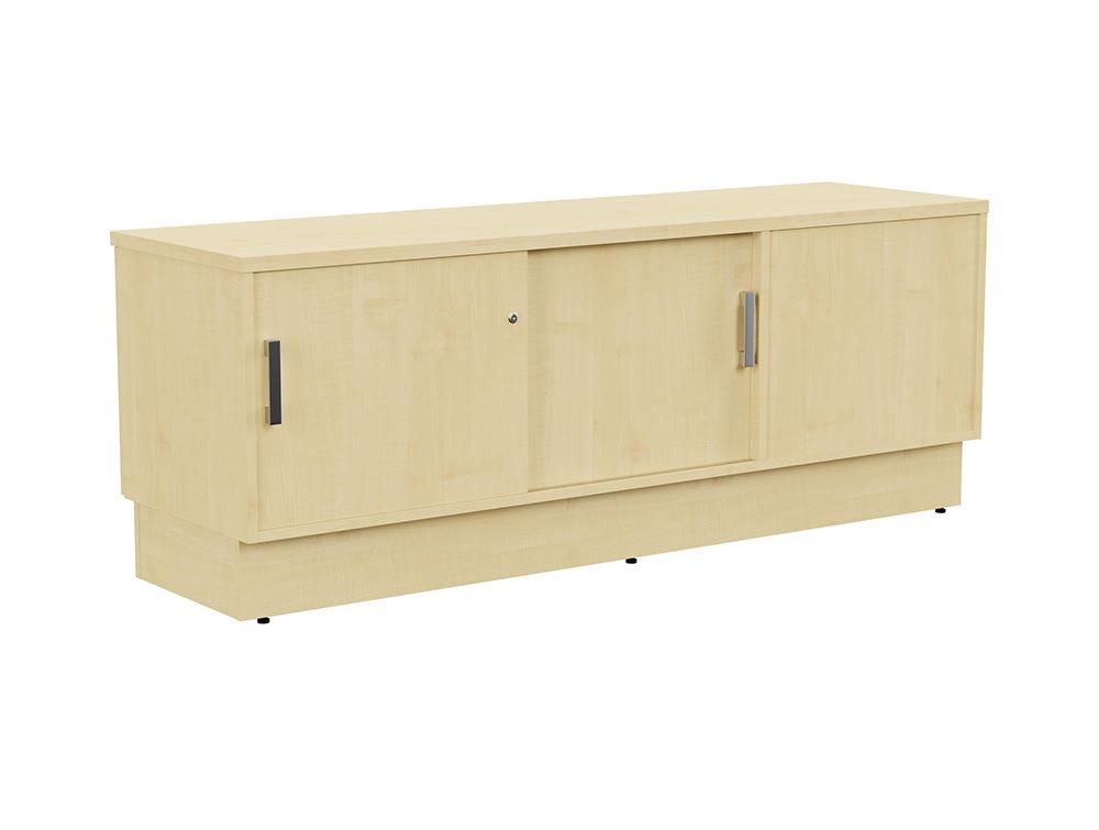 Grand Executive Credenza Storage Unit - Maple - Left