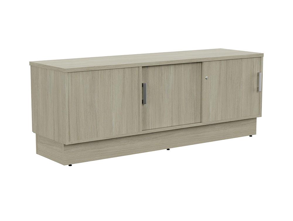 Grand Executive Credenza Storage Unit - Arctic Oak - Right