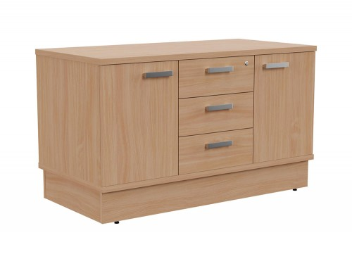 Grand Executive Cupboard and Drawer Storage Unit in Beech