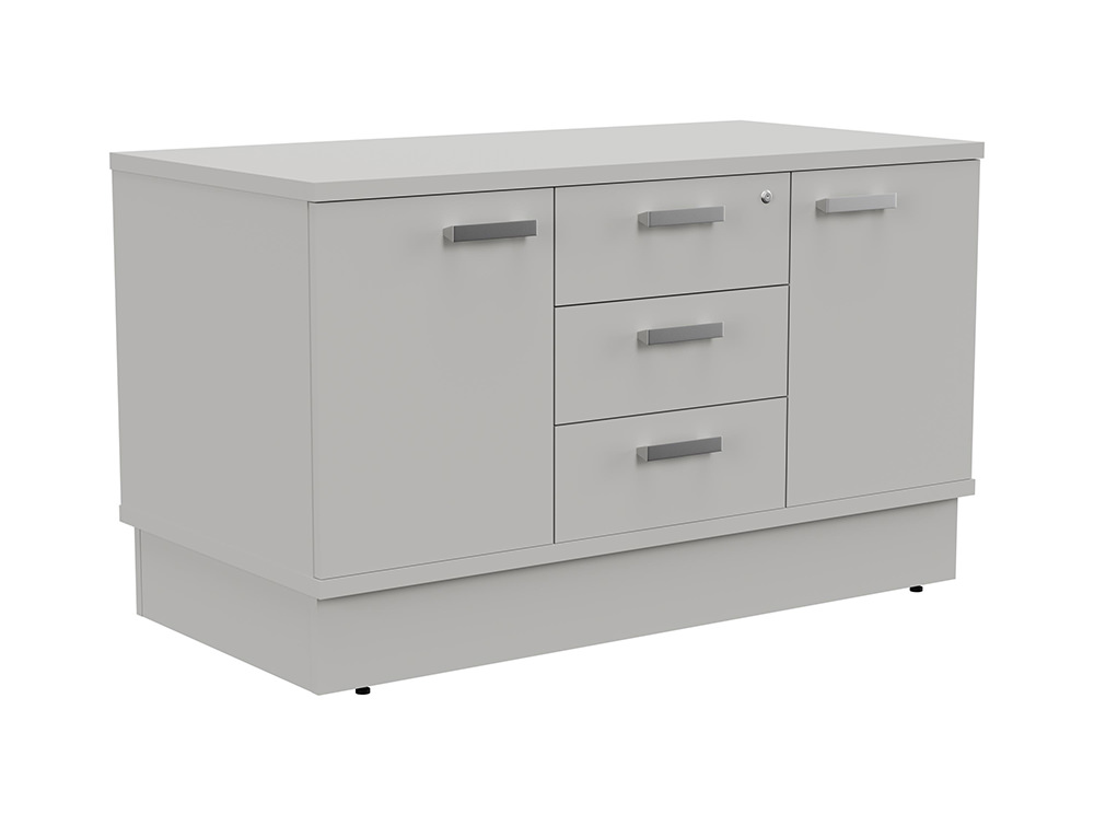 Grand Executive Cupboard and Drawer Storage Unit - Grey
