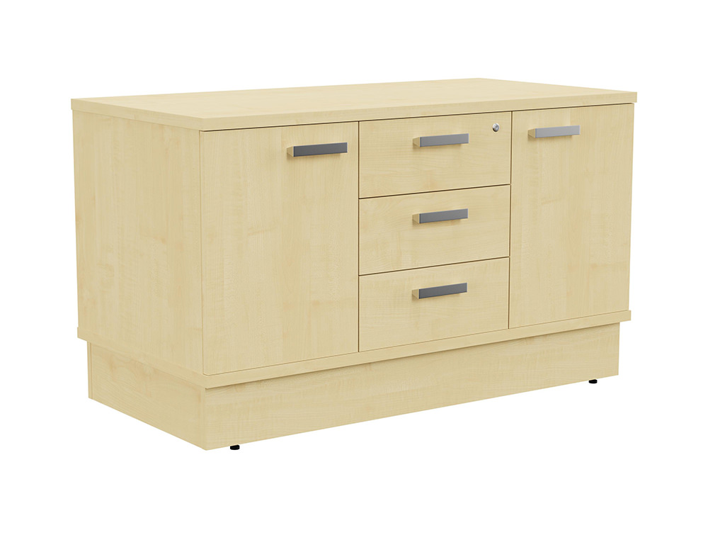 Grand Executive Cupboard and Drawer Storage Unit - Maple