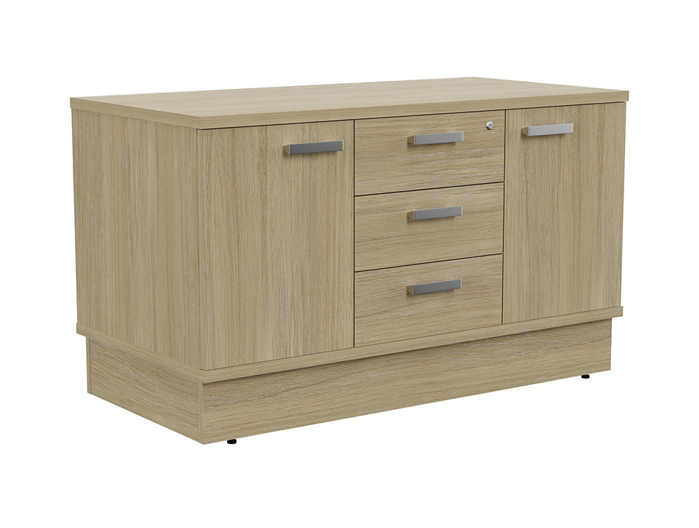 Grand Executive Cupboard and Drawer Storage Unit - Urban Oak