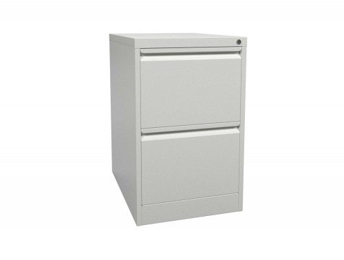 Graviti Contract 2 Drawer Filing Cabinet Chalky White Assembled