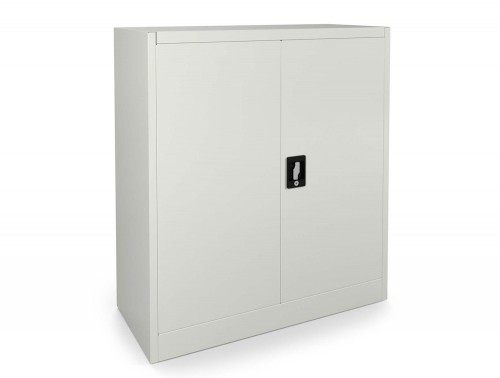 Graviti Contract Stationery 1000mm 2-Door Cupboard White Assembled