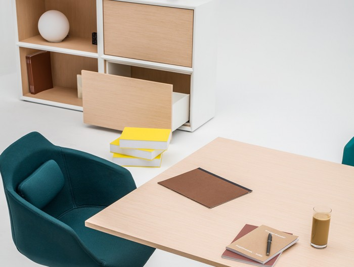 Gravity-Bookcase-with-2-Levels-in-Situ