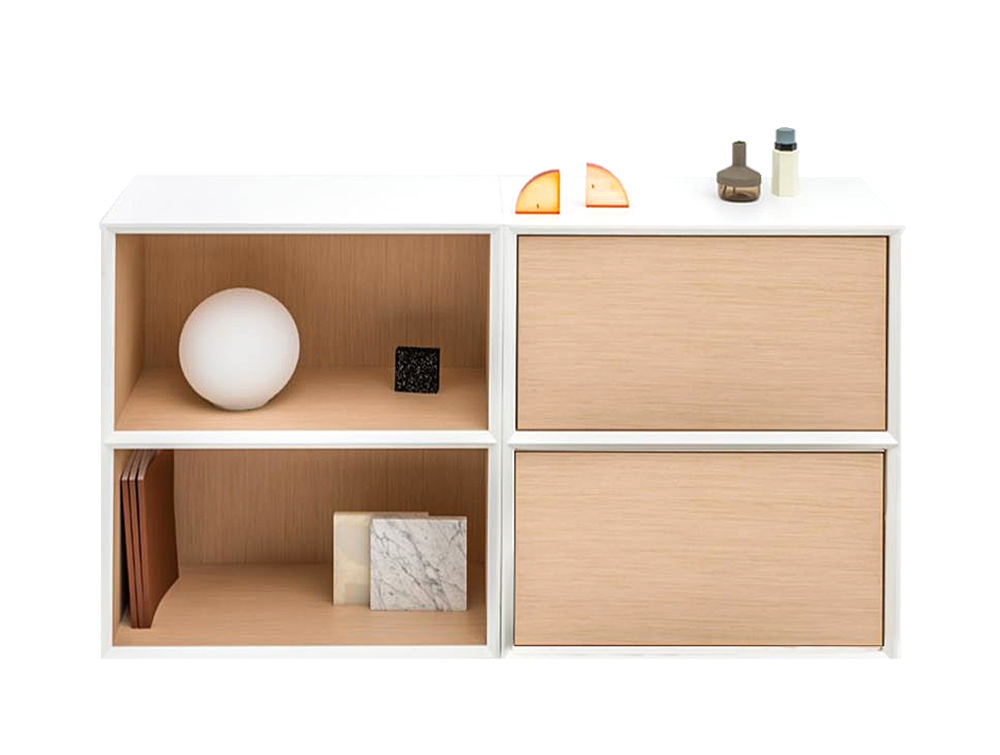 Gravity-Bookcase-with-2-Levels