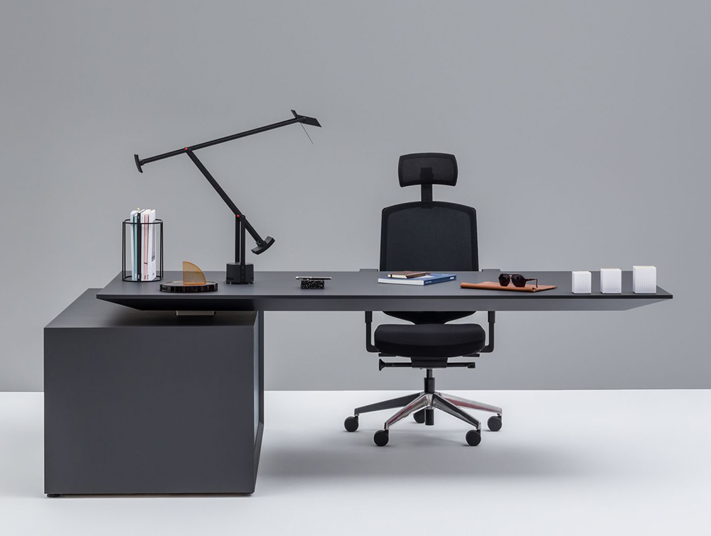 Gravity-Electric-Sit-Stand-Executive-Manager-Desk-with-Side-Storage-with-Graphite-Finish-Table-and-Graphite-Storage-Base-and-Task-Chair