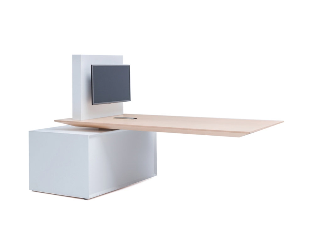 Gravity Executive Electric Sit-Stand Multimedia Meeting Station
